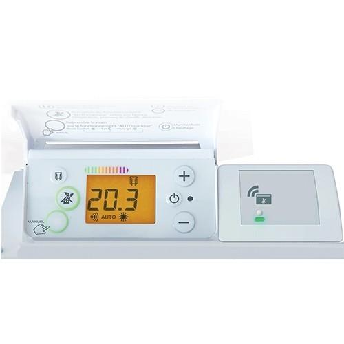 radiateur connect inertie fonte vertical blanc 1500w. Black Bedroom Furniture Sets. Home Design Ideas