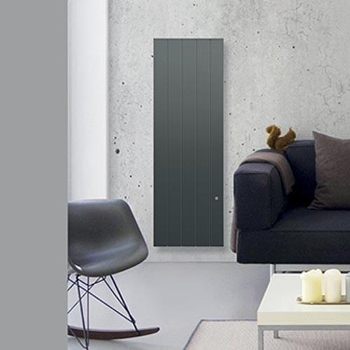 CHAUFELEC Manon Radiateur à inertie réfractite vertical gris 1500W - BJN2235FTHS