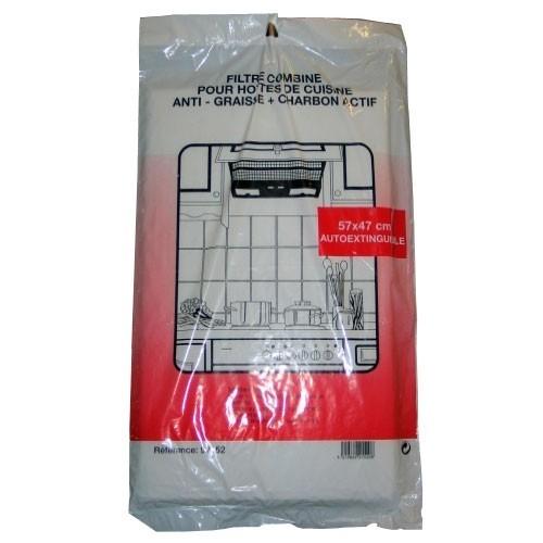 2 filtres à  charbon noir anti odeur pour hotte de cuisine