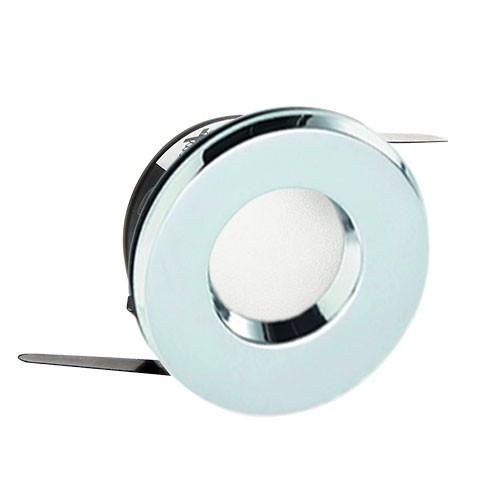 EASYLIGHT Support de spot encastré fixe rond IP65 pour salle de bain chrome