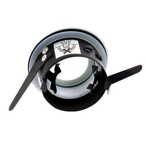 Support de spot encastré fixe rond IP65 pour salle de bain chrome EASYLIGHT