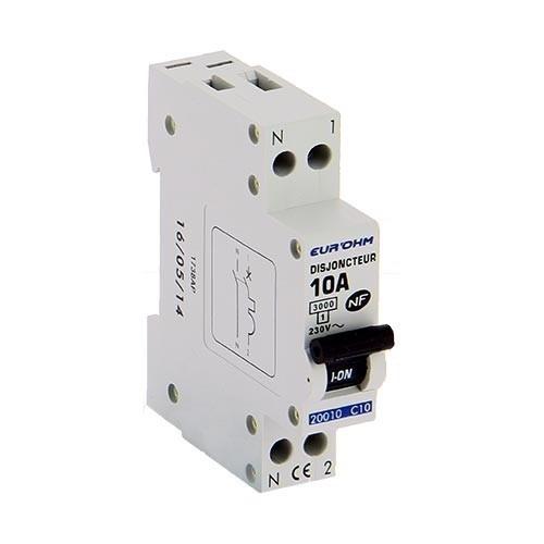 EUROHM Disjoncteur 10A NF 1P+N