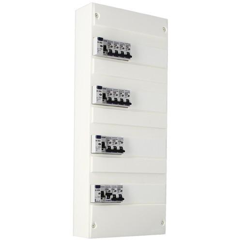EUROHM Tableau électrique prééquipé 4 rangées 4ID 40A 14 disjoncteurs