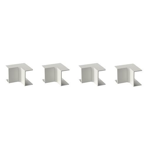 GGK Angles intérieurs blanc pour moulure électrique 22x12mm- lot de 4