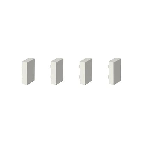GGK Embouts de finition pour moulure électrique 22x12mm blanc - lot de 4