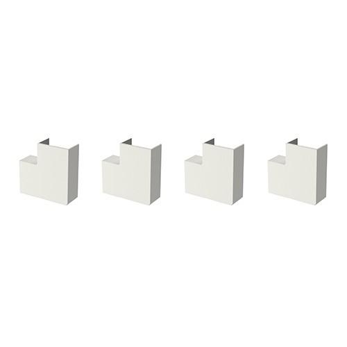 GGK Angles plats pour moulure électrique 22x12mm blanc - lot de 4