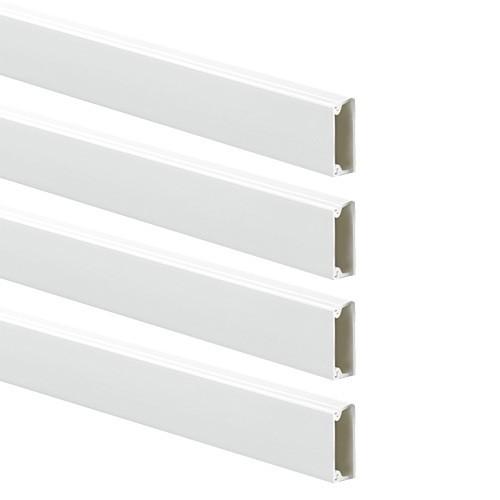 Moulure adhésive électrique  GGK 22x12mm L.1,2m blanche - lot de 4 EAN8017