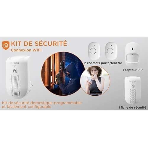 Alarme G-HOMA connecté wifi et accessoires - EMW302WF-HS