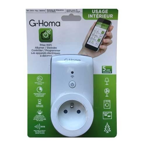 Prise G-HOMA connectée wifi 16A - EMW302WF-F
