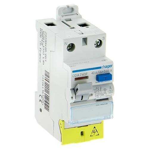 HAGER Interrupteur différentiel type A 40A 30mA