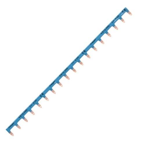 HAGER Peigne horizontal 18 modules bleu Neutre 10mm²