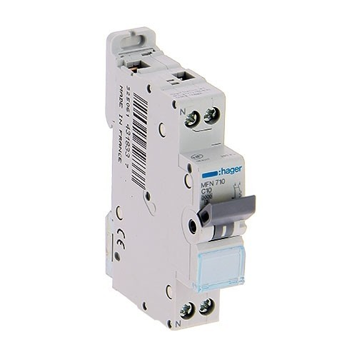 HAGER Lot de 12 disjoncteurs électriques 10A  à borne à vis - MFN710