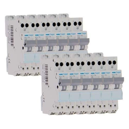 HAGER Lot de 12 disjoncteurs électriques 16A  AUTO - MFS716