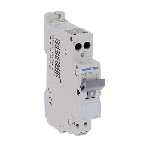 HAGER Disjoncteur 10A AUTO Phase Neutre