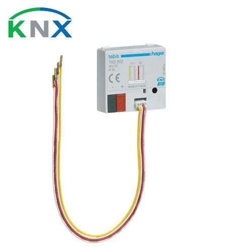 HAGER KNX Interface bouton poussoir 2 entrées universelles à encastrer - TXB302