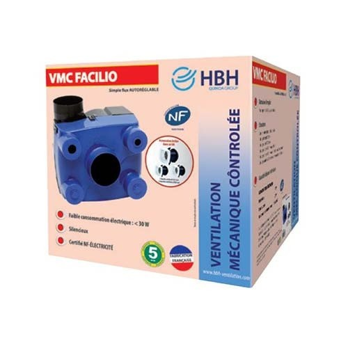 HBH Kit VMC Facilio simple flux autoréglable - 908560