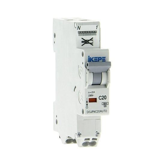 IKEPE Disjoncteur 20A auto Ph+N courbe C 4.5kA 230V