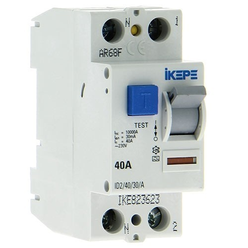IKEPE Interrupteur differentiel 40A 30mA type A 230V
