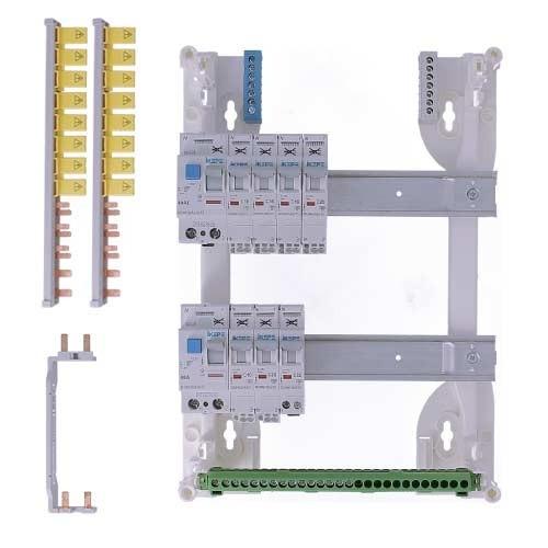 Tableau électrique pré équipé auto 2 rangées 2ID 40A 7 disjoncteurs IKEPE