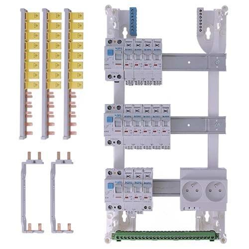 Tableau électrique pré équipé auto 3 rangées 3ID 63A 12 disjoncteurs IKEPE