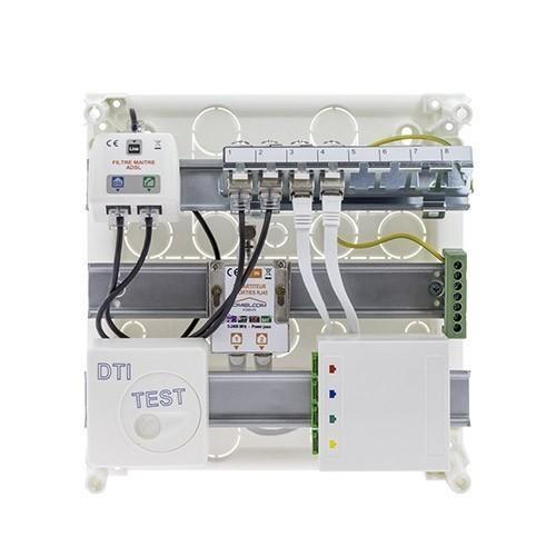 IKEPE  Coffret de communication Grade 2TV - 4RJ45 avec DTIO