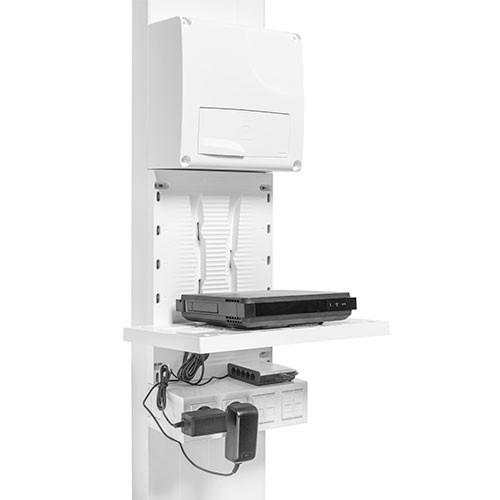 IKEPE Zone attenante pour coffret de communication avec 8 cordons RJ45 + 2 prises