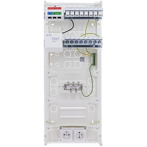 Coffret de communication IKEPE Grade 1 - 8RJ45 avec emplacement box