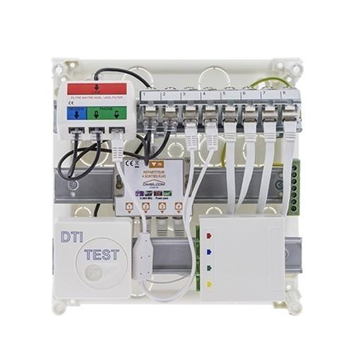 Coffret de communication IKEPE Grade 2TV - 8RJ45 avec DTIO