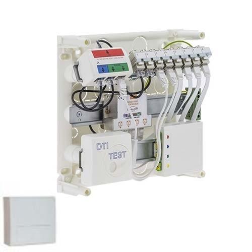 IKEPE Coffret de communication 8RJ45 avec DTIO Grade 2TV