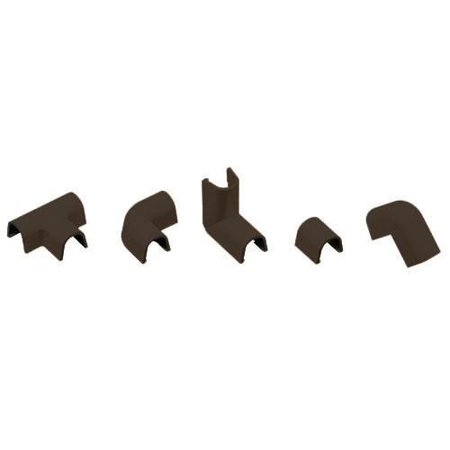 INOFIX Cablefix Accessoires assortis 5,5 x 5,5 mm pour gaine adhésive - Marron