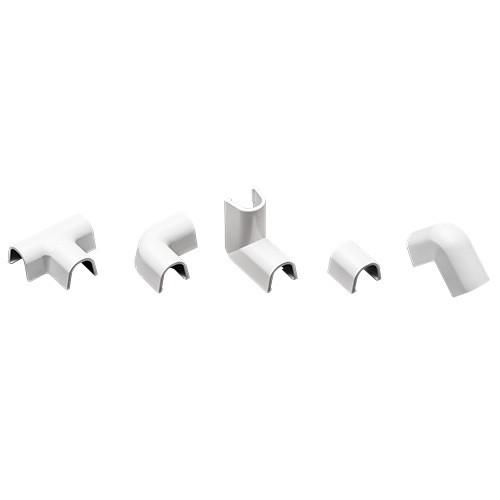 INOFIX Cablefix Accessoires assortis 8x7 mm pour gaine adhésive - Blanc