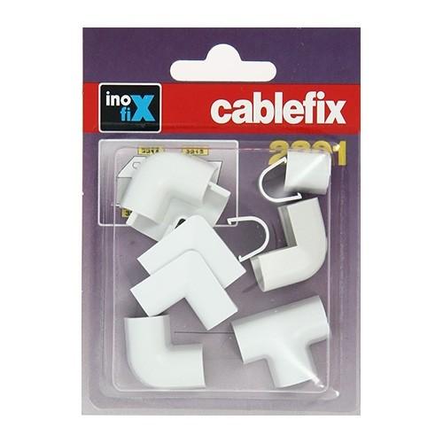 INOFIX Cablefix Accessoires assortis 8x7 mm pour gaine adhésive - Blanc - 2