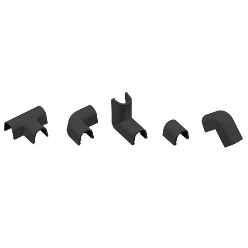 INOFIX Cablefix Accessoires assortis 8 x7 mm pour gaine adhésive - Noir