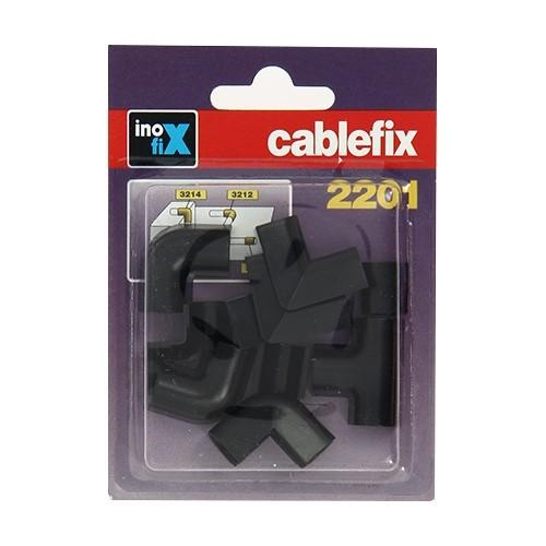 INOFIX Cablefix Accessoires assortis 8 x7 mm pour gaine adhésive - Noir - 2