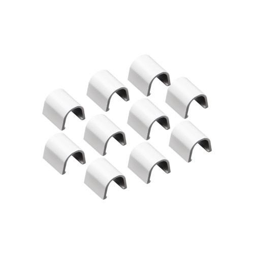 INOFIX Cablefix Accessoires droits 8 x 7 mm pour gaine adhésive - Blanc