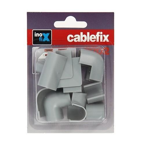 INOFIX Cablefix Accessoires assortis 10,5x10 mm pour gaine adhésive - Gris métallisé - 2