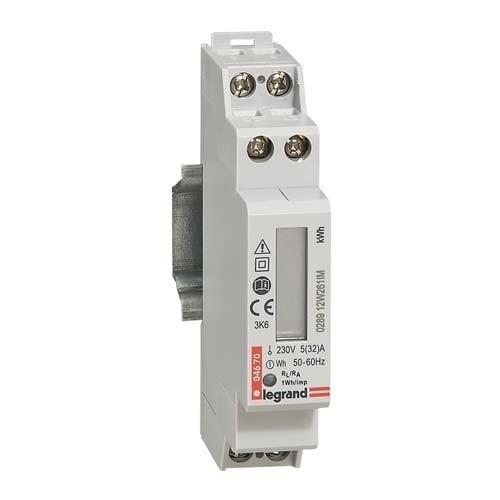 LEGRAND EMDX³ Compteur d'énergie monophasé - raccord. direct 32A 1 mod - 004670