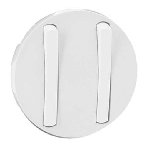 LEGRAND Céliane Enjoliveur blanc double va et vient / poussoir doigt étroit - 065002