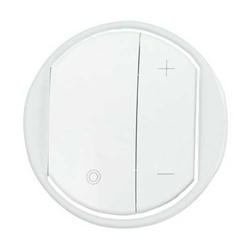 enjoliveur interrupteur variateur legrand c liane blanc. Black Bedroom Furniture Sets. Home Design Ideas