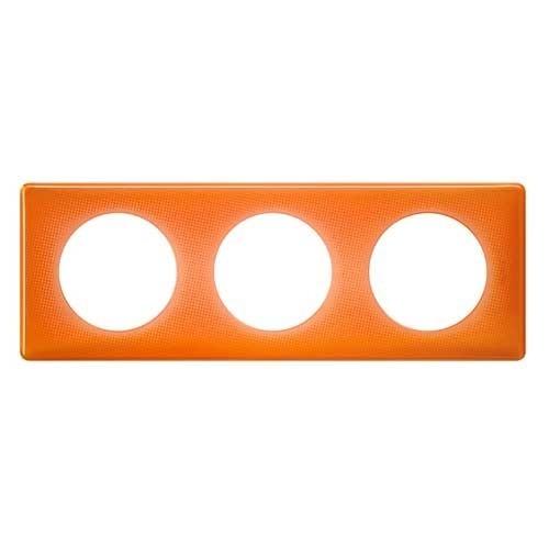 LEGRAND Céliane Plaque Memories 3 postes 70's orange - 066653