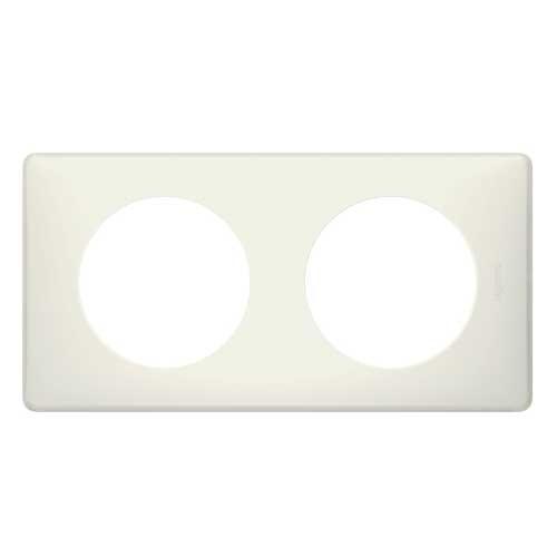 plaque poudr legrand c liane double craie 066702. Black Bedroom Furniture Sets. Home Design Ideas