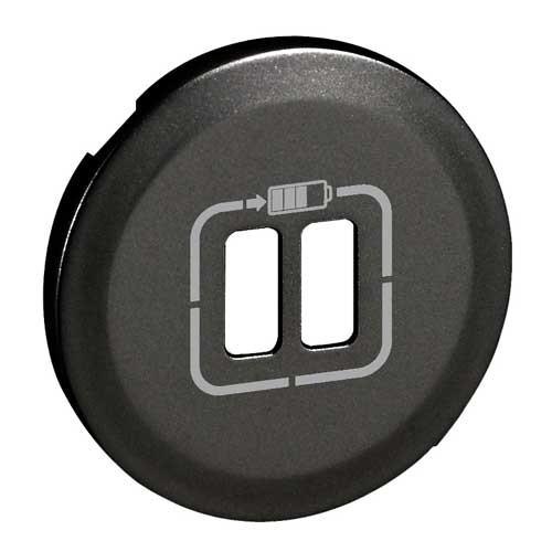 LEGRAND Céliane Enjoliveur prise double chargeur USB graphite - 067956