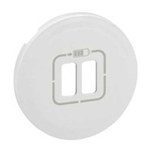 LEGRAND Céliane Enjoliveur blanc double chargeur USB - 068256