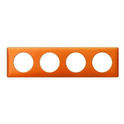 LEGRAND Céliane Plaque Métal 4 postes Orange snake - 068764