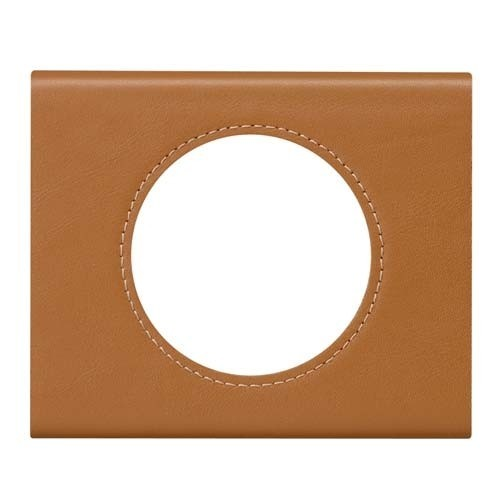 LEGRAND Céliane Plaque Matières 1 poste Cuir caramel - 069421