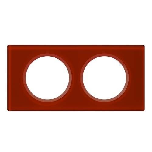 LEGRAND Céliane Plaque Matières 2 postes Verre carmin - 069472