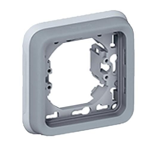 LEGRAND Plexo Support plaque 1 poste composable encastré gris IP55 - 069681