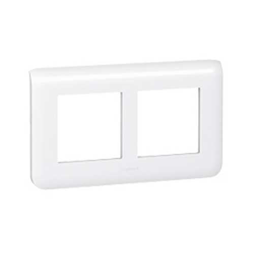 LEGRAND Mosaic Plaque double horizontale E57 blanche - 078864