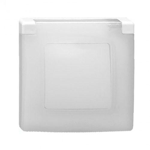 LEGRAND Niloé Plaque simple 1 poste blanc IP44 et IK07 - 665000