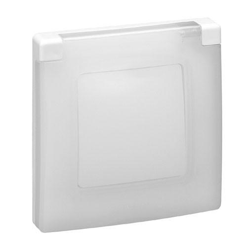 LEGRAND Niloé Plaque simple 1 poste blanc IP44 et IK07 - 665000 - 2